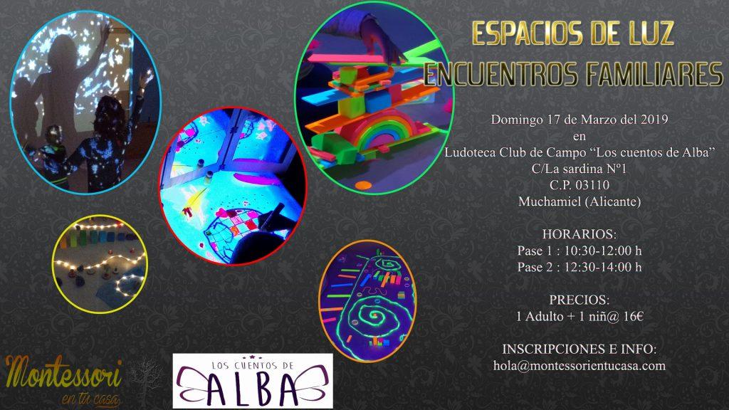 ESPACIOS DE LUZ cartel Alicante 1
