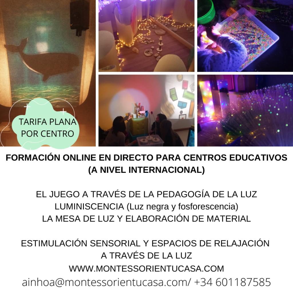 FORMACIÓN ONLINE EN DIRECTO PARA CENTROS EDUCATIVOS
