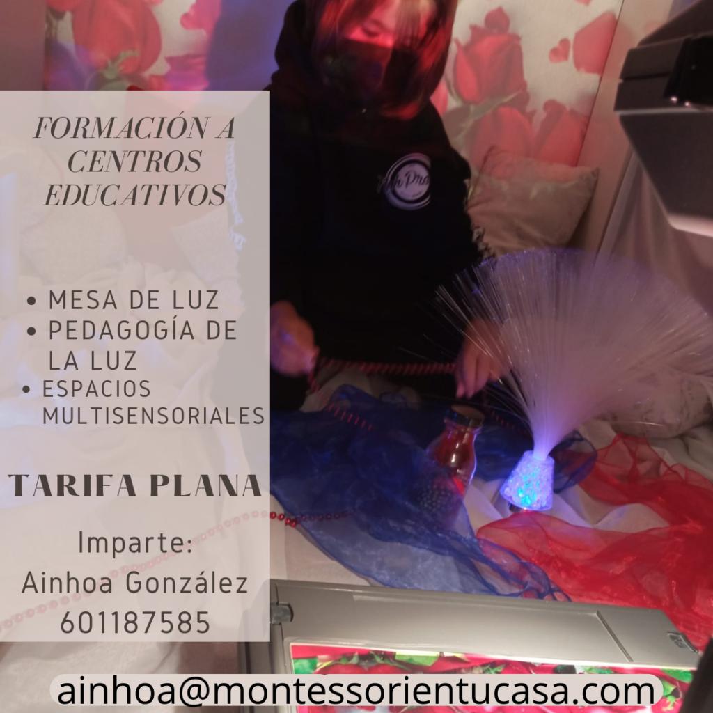 FORMACIÓN A CENTROS EDUCATIVOS